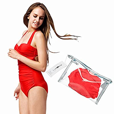 Tidetell® Halter 50s Retro One Piece Bathing Suit Swimsuit Swimwear+PVC Bag (FBA)