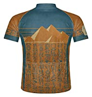 Primal Wear Hiero Ancient Egypt Pyramids Cycling Jersey Men's Short Sleeve