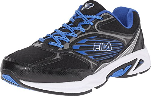 Fila Men's Inspell 3-M Running Shoe, Black/Dark Silver/Prince Blue, 9 M US