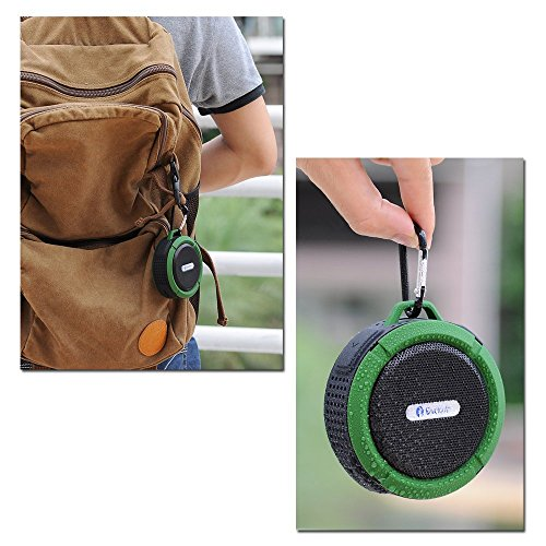 Asense [Waterproof & Dustproof] Wireless Bluetooth 3.0 Outdoor / Shower Speaker, Handsfree Portable Speakerphone with Built-in Mic, Control Buttons and Dedicated Removable Suction Cup for Showers, Bathroom, Pool, Boat, Car, Beach, & Outdoor Use Compatibl lycheers waterproof wireless fm radio bluetooth mini shower stereo speaker with hook handle and hands free speakerphone