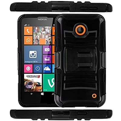 CASEFORMERS Duo Armor BLACK for Nokia Lumia 635 Combo Case with Stand and Holster from CASEFORMERS