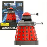 "Doctor Who Dalek - Red Desktop Patrol Figure with Motion Detectors and Sound Effects - 4"" Tall"