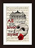 The Phantom Of The Opera With Paris Opera House Mounted / Matted Ready To Frame Dictionary Art Print