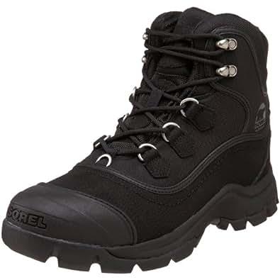 Sorel Men's Timberwolf Leather Snow Boot,Black,7 M US