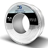 DigiStruct PLA 1.75mm 3D Printer Filament - 1kg Spool PHTHALATE-FREE - Dimensional Accuracy +/- .03 (White)