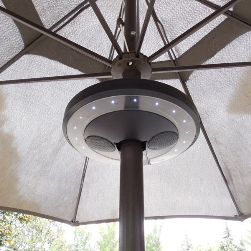 Led Umbrella Amazon: PATIO UMBRELLA BLUETOOTH SPEAKER WITH LED LIGHTS