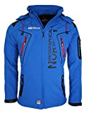 Geographical Norway Herren Softshell Funktions Outdoor Jacke wasserabweisend [GeNo-5-Blau-Gr.XL]