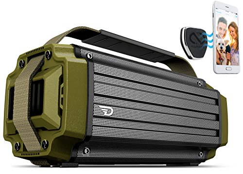 TREMOR Bluetooth Speaker, 50W Portable System with aptX Bluetooth 4.0 Technology, High-Fidelity Studio Sound, 20,800mAh Battery, IPX5 Rugged Shell. Bonus MagBuddy Anywhere Magnetic Mount