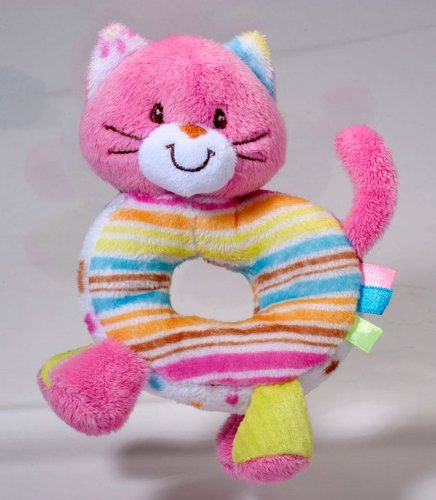 1 X Douglas PlayTivity Kitty Soft Hand Rattle - 1