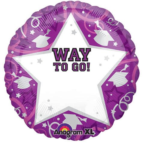 Graduation Purple Personalized 22in Balloon