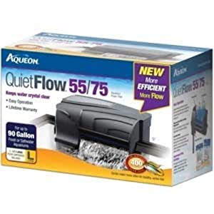 Aqueon 06079 QuietFlow 55/75 Power Filter, 400-GPH