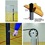 Jaypro PVB-6500 Powerlite International Volleyball Net System for 3 inch (Complete System) (Call 1-800-234-2775 to order)