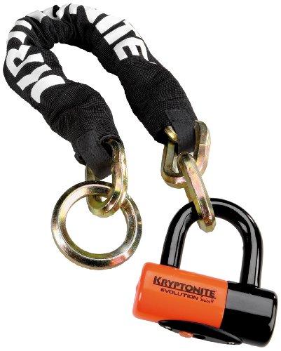 Kryptonite Kryptonite New York Noose 1275 Chain Bicycle Lock with Evolution Series 4 Disc Lock Chain Bicycle Lock (2-Foot x 4-Inch)