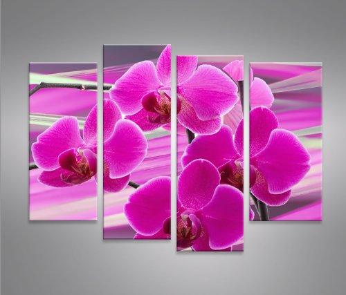 Purple Flower Frühling Blumen 4er Quadri moderni intelaiati – pronti ...