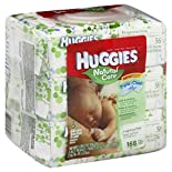 Huggies Natural Care Wipes, Fragrance Free, 3 - 56 count packs 168 wipes