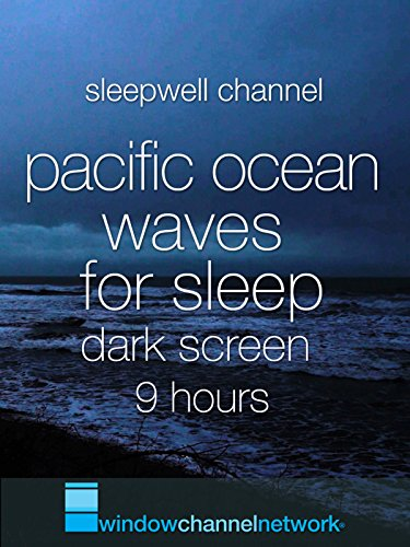 Pacific Ocean Waves for Sleep dark screen 9 hours