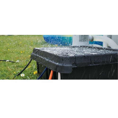 Medium Black Weatherproof Indoor Outdoor Electrical Cord Connection Enclosure Box Sockit Box