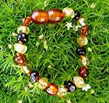 Baltic Amber Child Teething Necklace - Multicolor $21.99