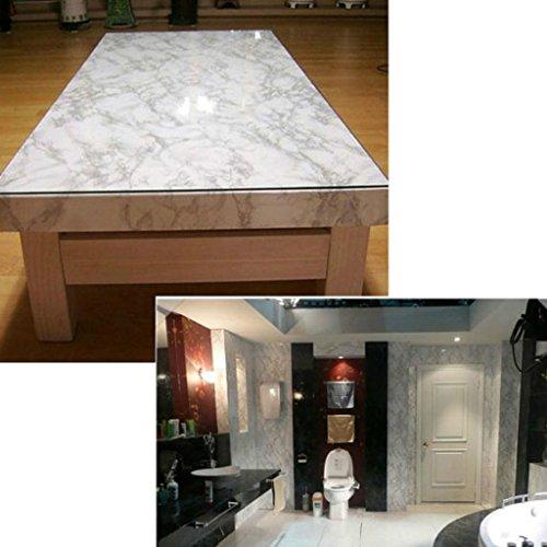 Faux Marble Granite Vinyl Furniture Kitchen Cabinets Countertops Wrap ...