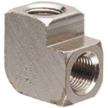 Polyconn PC100NB-2 Nickel Plated Brass Pipe Fitting, 90 Degree Elbow, 1/8&#034; NPT Female (Pack of 10)