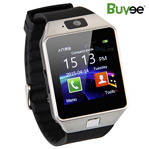 Buyee Dz09 1.54-Inch Wristwatch Smartwatch with Pedometer Anti-lost Camera for iPhone, Sansung, Huawei android Phones - Silver