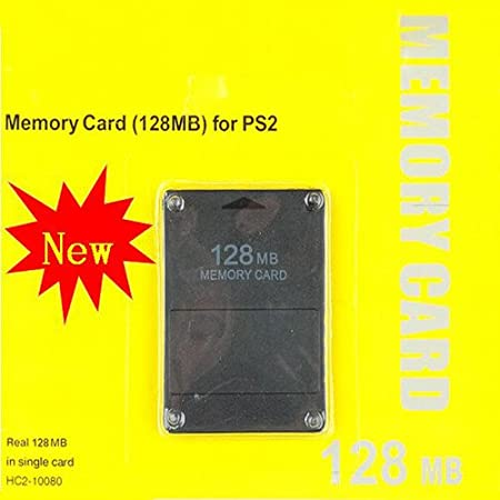 Compatible 128MB Memory Card Video Game Memory Card for Sony Play Station 2 PS2