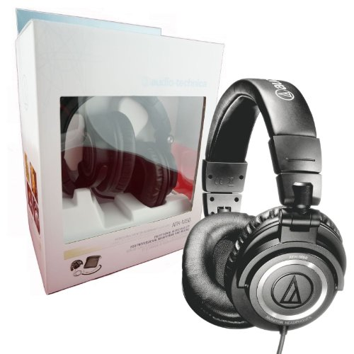 Audio Technica Ath-M50 Professional Studio Monitor Headphones With Coiled Cable