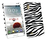 Emartbuy® LCD Screen Protector And Zebra Black / White Clip On Protection Case/Cover/Skin For LG Optimus L9 P760