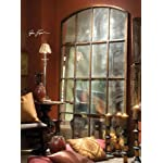 "82"" Antiqued WINDOW Arch MIRROR Wall or Floor Leaner XL"
