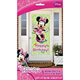 Minnie Mouse Happy Birthday Door Poster, 60 x 27