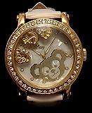 海外ディズニーランド 大人サイズ 公式腕時計 リストウォッチ  動くシェリーメイチャーム(クリスタルロケット同等)入り、 缶入り、 ベルト 白Duffy Watch