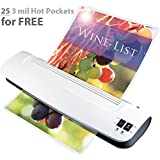 """New: Zoomyo 13"""" Hot & Cold Laminator Kit Z 13-5 Includes 25 x 3 mil Hot Pockets, Assorted Sizes"""