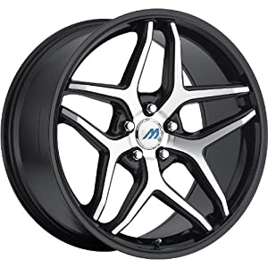 Mach M3 18 Black Machined Wheel / Rim 5×4.5 with a 42mm Offset and a 72.56 Hub Bore. Partnumber M3-1880LL42FBM