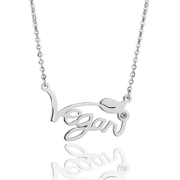 Minghua Stainless Steel Vegan Symbol Pendant Necklace For Vegetarian