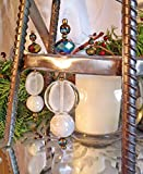 Silver Christmas Tree Candleholder Centerpiece w/Translucent Ice like Jewels