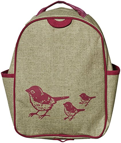 SoYoung Toddler Backpack Lunch Box - Pink Birds - 1