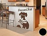 Wandtattoo Hunde-Fressecke B x H: 30cm x 45cm Farbe: schwarz (erh�ltlich in 35 Farben und 8 Gr��en)