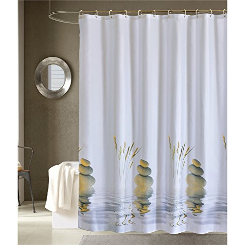 LanMeng Four Seasons Abstract Artwork Art Prints Bath Decor Polyester Fabric Shower Curtain Free set of 12 hooks (72-by-78 inches, 11) (Period Table Shower Curtain compare prices)