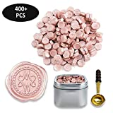 Premium Sealing Wax Beads 400-count in Tin with Melting Spoon-Champagne Pearl
