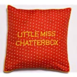Bandbox Chatterbox Cushion Cover - Orange ( Size:- 16 In. X 16 In.)
