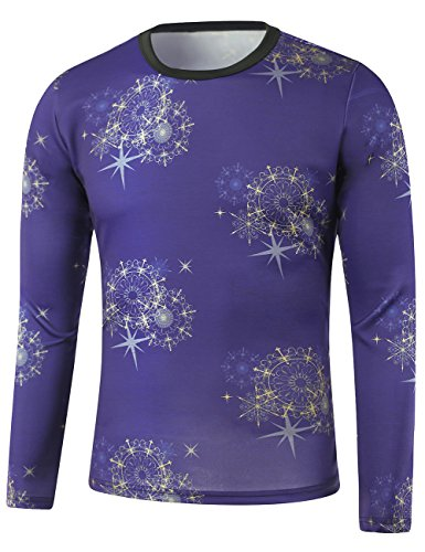 thinkmax-mens-pullover-round-neck-sweater-long-sleeve-dream-snowflakes-printed-sweater-deep-blue-5xl