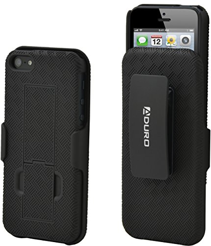 Aduro Shell Holster Combo Case for Apple iPhone SE / 5 / 5S with Kick-Stand & Belt Clip (At&t, Verizon, T-Mobile & Sprint) (Iphone 5 Case With Clip compare prices)