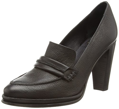 Fred de la Bretoniere Fred penny loafer with 9cm heel elegant New York, Decolleté chiuse donna, Nero (Schwarz (Black 002)), 41