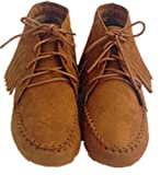 Bamboo Womens Circus Lace Up Fringe Flat Ankle Bootie Shoes New