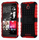 Cruzerlite Spi Force Dual Layer Cover Case for HTC Desire 510 - Red (Retail Packaging)