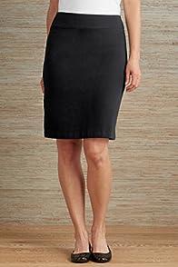 Fair Indigo Refined Knit Organic Fair Trade Pencil Skirt