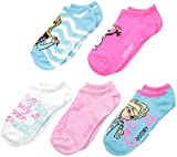 Disney Little Girls' Frozen 5 Pack Ankle Socks, White, One Size/6/8.5