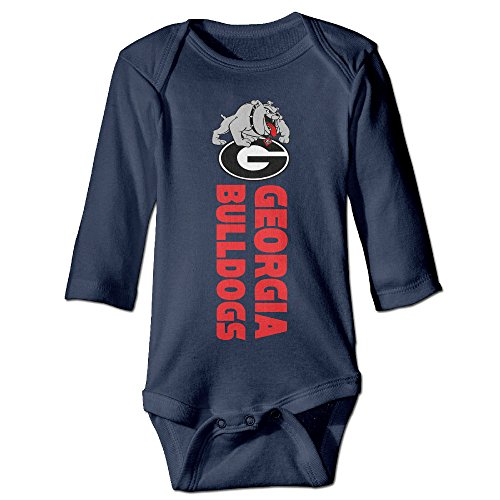 Bro-Custom Georgia G Bulldogs For 6-24 Months Boys&Girls Romper Playsuit 18 Months Navy (American Bulldog For Sale compare prices)