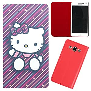 DooDa - For Karbonn A4+ PU Leather Designer Fashionable Fancy Flip Case Cover Pouch With Smooth Inner Velvet
