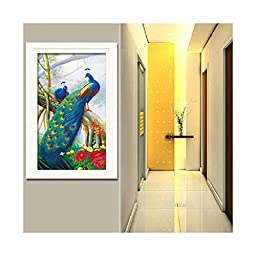 5D Diamond Painting Spirit of Peacck Living Room Cross Stitch Diamond Paste Hallway Diamond Stitch
